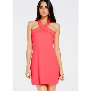 Fabletics CHICAGO DRESS HOT CORAL